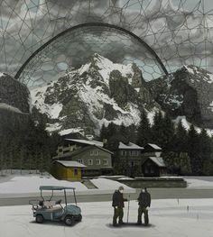 'An Alpine Biodome' by Geraint Evans. This painting was exhibited in the John Moores Painting Prize 2010 exhibition at the Walker Art Gallery. http://www.liverpoolmuseums.org.uk/walker/johnmoores/recent-exhibitions/jm2010/exhibitors/evans.aspx