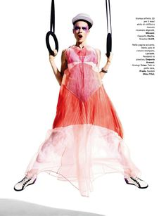 pretty dress..glam sport: egle tvirbutaite by chris craymer for amica may 2013 | visual optimism; fashion editorials, shows, campaigns & more!