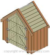narrow backyard shed (7x4)