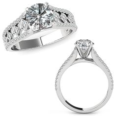 1.25 Carat Diamond Beautiful Solitaire Halo Engagement Wedding Bridal Women Ring Band 14K White Gold -- Click image to review more details. (This is an affiliate link and I receive a commission for the sales)