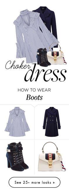 """Choker Dress"" by lovetodrinktea on Polyvore featuring Miss Selfridge, Caroline Constas, Gucci, Giuseppe Zanotti and chokerdress"