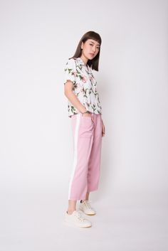 These soft rosy blooms bring pretty in pink to the next level. The pastel floral print goes with any plain bottom for effortless pairing! Pastel Floral, Floral Prints, Pretty In Pink, Casual Dresses, Dressing, Normcore, Shirts, Color, Women