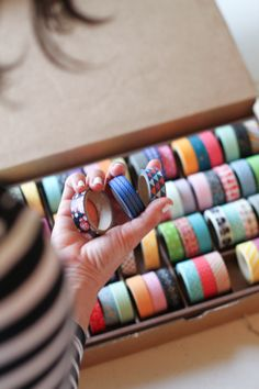 washi tape - if we can find it cheap, can include it with brown paper for the gift wrap we provide.
