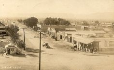 1918, Lancaster, California. Looking south on Sierra Highway, at the intersection with Lancaster Boulevard.