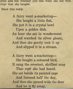 Faries write poetry too.