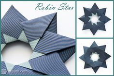 """Robin Star (Maria Sinayskaya) by credo-zsegda on Flickr. squares, 8 units, no glue    """"This star was named after an incredibly generous person - Robin Scholz.  I thought it would be a very good idea to generously share a diagram for it.  Check out my latest post at Go Origami! http://goorigami.com/modular-origami/robin-star/2116 for the instructions."""