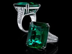 Amazing ct Fine Emerald & Diamond ring by Robert Procop! See this and more of Robert's collection May and at Darren McClung Estate & Precious Jewelry in the Stanford Barn. Gothic Jewelry, High Jewelry, Luxury Jewelry, Vintage Jewelry, Emerald Jewelry, Beautiful Rings, Crystal Necklace, Fashion Rings, Designer