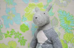 Hand Knit Bunny in Cashmere Dress Bonny Bunny by WilleWorks, $200.00