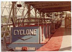 Loading station, Cyclone roller coaster, Williams Grove Amusement Park. Mechanicsburg, Cumberland County PA.