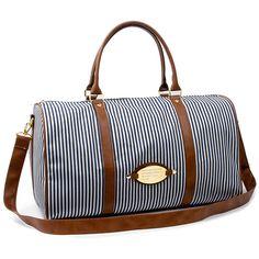 4a54df061a45 Striped duffle bag Travel luggage bags Colatree stripe