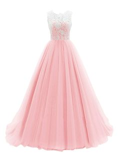 Dresstells® Women's Long Tulle Prom Dress Dance Gown with Lace
