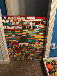Umm baby gate! Yes! Minecraft Pattern, Lego Minecraft, Lego For Kids, Diy For Kids, Toddler Fun, Toddler Activities, Legos, Lego Challenge, Lego Club