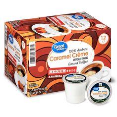 Great Value Arabica Caramel Crme Coffee Pods, Medium Roast, 12 Count Carmel Cream, Seattle Best Coffee, Kauai Coffee, Starbucks Caramel, Caribou Coffee, Green Mountain Coffee, Fresh Roasted Coffee, Single Serve Coffee