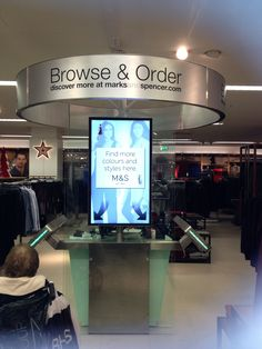 M&S using digital to drive conversion - if you can't find what you want in-store order it before you leave!