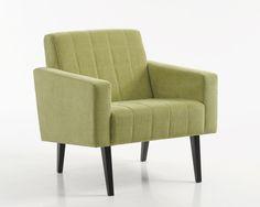Raikkaasti retro Malli: Trip  Verhoilu: Kangas, Matrix lime Vaihtoehdot: 2-istuttava sohva, lepotuoli Jälleenmyyjä: Sotka-liikkeet  #pohjanmaan #pohjanmaankaluste #käsintehty
