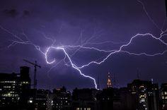 Lightning storm in Sao Paulo, Brazi - REX/Gustavo Basso/NurPhoto
