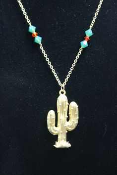 Cactus Necklace by CraftySquirrelDesign on Etsy