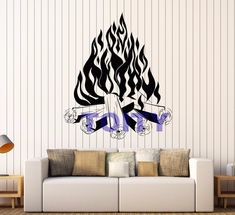 Fire Vinyl Wall Decal Fireplace Bonfire Wood Decor Wall Sticker Campfire Camping Fire Art Mural Wall Sticker Removable H69xW57CM. Yesterday's price: US $14.99 (12.41 EUR). Today's price: US $10.79 (8.93 EUR). Discount: 28%.