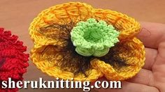 how to crochet a flower - YouTube