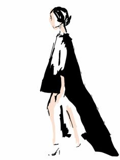 Matthew Gallagher by Stephanie McKay Curated.Works: World MasterCard Fashion Week F/W 2014 LIVE Runway Sketches (Day 5)