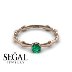 Rose Gold Engagement Ring by Segal Jewelry Elegant Engagement Rings, Princess Cut Engagement Rings, Round Diamond Engagement Rings, Antique Engagement Rings, Designer Engagement Rings, Gold Solitaire Ring, Vintage Green, Flower, Red Gold