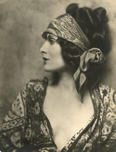 Silent film star Evelyn Brent, 1924. Most of her films are lost
