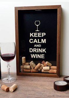 Quadro para Coleções de Rolhas Drink Wine P