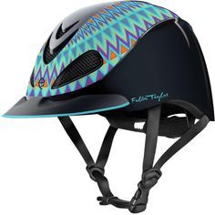 Fallon Taylor Barrel Racing Horse Riding Helmet Turquoise Aztec Item # 41999