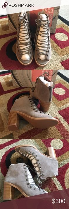 Jeffry Campbell Cors Bootie Taupe Suede Size 7 New 😍 No trade 🚫 No model 💃🏻 Jeffrey Campbell Shoes Ankle Boots & Booties