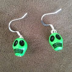 Skull Earrings - Various Colors / Cinco de Mayo Day of the Dead #FashionJewelery