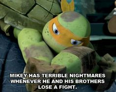 Awww poor mikey