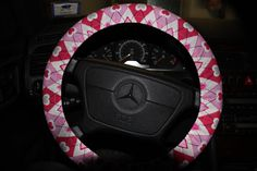 Valentine's Steering Wheel cover .Pink Hearts by SouthernAplus