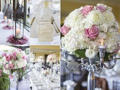 Harvest tables and elegant details for a beautiful day - photo by Nat Caron
