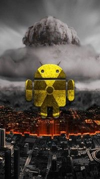 Nuclear Logo Android Wallpaper