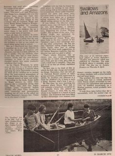 Photographs of the dinghy 'Swallow' published in 'Smith's Trade News' in 1974