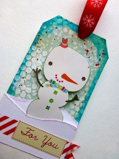 Made by Nicole: Snowman Christmas Tag