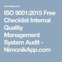 How To Prepare Iso 9001 2015 Audit Checklist For Qms