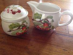 PORTMEIRION POTTERY Sugar Pot And Jug POMONA & BOTANIC GARDEN England  | eBay