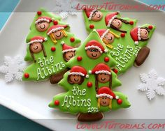 Christmas Family Tree Cookies tutorial
