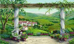 Italian Villa Mural RA0187M