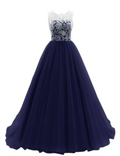 Amazon.com: Dresstells? Women's Long Tulle Prom Dress Dance Bridesmadi Gown with Lace: Clothing