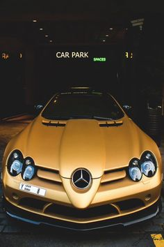 """Image about gold in cars """" ♥ """" by bvb on We Heart It Jdm, Mercedes Sports Car, Carl Benz, Exotic Sports Cars, Exotic Cars, Automotive Group, Ex Machina, Mercedes Benz Amg, Hot Rides"""