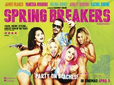 """Spring Breakers"" Review: Franco and Bikini Mania Showcase Biabolical Truth of Youth - Did you ever wonder how Piranah 3D would have been if it had a plausible plot and starred James Franco? What if you throw in some Skrillix, that awesome soundtrack from Drive and four ""pretty chickies"" as protagonists? You get a film that defines the social life style of our generation. (Critically: 8.5/10) (Personally: 8/10) #SpringBreakers #JamesFranco #SpringBreak #SelenaGomez #VanessaHudgens #Vlizzards"