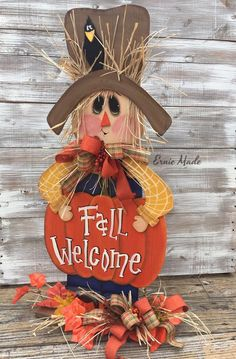 Items similar to Scarecrow Centerpiece fall centerpiece Scarecrow wreath Fall decoration Scarecrow Sign Thanksgiving decor Scarecrow Farmhouse sign on Etsy Thanksgiving Wreaths, Fall Wreaths, Thanksgiving Decorations, Primitive Scarecrows, Fall Wood Crafts, Scarecrow Wreath, Scarecrow Painting, Fall Deco Mesh, Halloween Porch