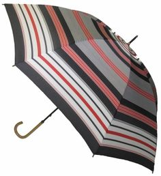 Black Striped Umbrella, classic. Available @ www.let-it-rain.com