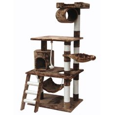 @Overstock - This Go Pet Club 62 inch Cat Tree is the perfect playground paradise for your frisky feline. It will allow them to climb and scratch the day away.http://www.overstock.com/Pet-Supplies/Go-Pet-Club-62-inch-Cat-Tree/6735192/product.html?CID=214117 $99.99