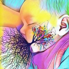 Breastfeeding Tree of Life Art! Normalize breastfeeding & Create your own! Images Of Nurses, Tree Of Life Images, Breastfeeding Art, Breastfeeding Benefits, Social Media Art, Pregnancy Art, Midwifery, Baby Hacks, Mother And Child