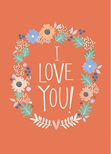 Whimsical cards for all occasions ideal to share with your loved one, left blank inside for your own message.
