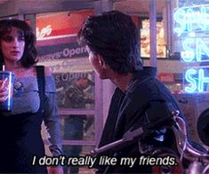Winona Ryder and Christian Slater in Heathers ( 1988 ) | teenage angst, the healthy kind, okay not really. = )