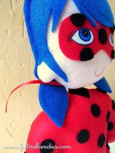 Pedido da Debora Meneses, de Mutum/MG. Boneca da personagem Ladybug, do desenho infantil do canal Gloob - Miraculous, as Aventuras de L...